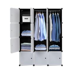 FCH Kleiderschrank Regalsystem Kleiderschrank Würfel mit Türen Steckregal Garderobe DIY