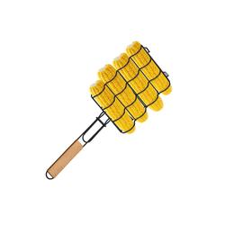 relaxdays Grillguthalter Maiskolbenhalter für den Grill, Metall