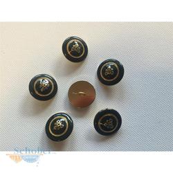 Knöpfe Knopf Jackenknopf Mantelknöpfe d=23 mm grün gold, 10 Stück