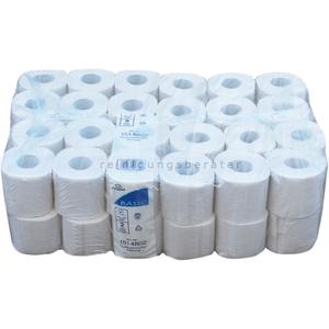 Toilettenpapier Fripa Tissue Recycling naturweiß 2-lagig 48 Rollen/Paket x 250 Blatt, 2-lagig nicht unterverpackt