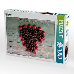 Kaffee Herz Lege-Größe 48 x 64 cm Foto-Puzzle Bild von Tanja Riedel Puzzle
