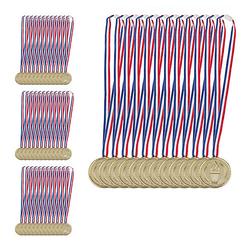 48 x Goldmedaille Medaille Kinder Fackel Gold Medal Medaillenset Goldstück  Erwachsene