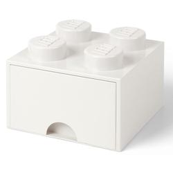 Room Copenhagen Aufbewahrungsbox Lego - Aufbewahrungsbox im Legostein Design mit einer Schublade - weiß