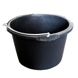 Bau-Kübel 40,0 l, Ø 50,5 cm, mit Bügel, 'Profi', schwarz, Skalierung