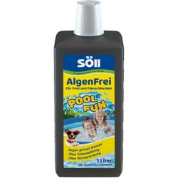 Söll AlgenFrei Poolreiniger, Wirkt glitschigen Belägen an Beckenrand und -boden entgegen, 1000 ml - Flasche