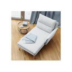 PLACE TO BE. Recamiere, Recamiere Ottomane Chaiselongue Sitzbank Polsterbank Tagesbett Daybed mit Armlehne rechts weiß