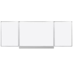 Whiteboard klapptafel, 120 x 400 cm