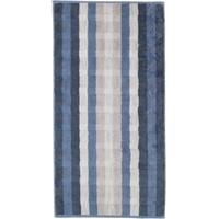 CAWÖ Noblesse Interior Streifen 1081 Handtuch 50 x 100 cm nachtblau