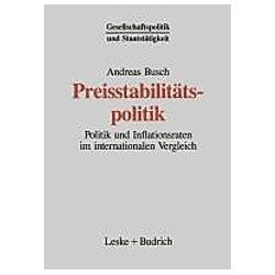 Preisstabilitätspolitik. Andreas Busch  - Buch