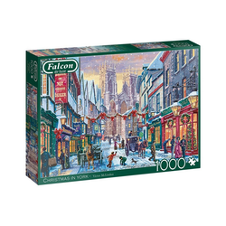 Falcon Puzzle Falcon 11277 Christmas in York 1000 Teile Puzzle, Puzzleteile