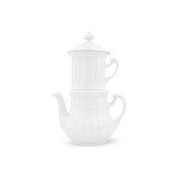 Walküre Porzellan Kaffeeservice Karlsbader Kaffeemaschine 1,1l Weiß Walküre Porzel (4-tlg), Porzellan, Karlsbader