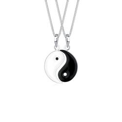 Elli Ketten-Set Partnerketten Yin Yang 925 Sterling Silber