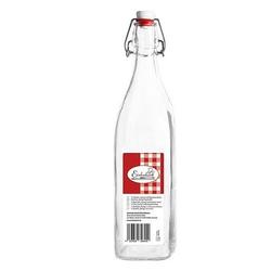 Bügelflasche Glasflasche vierkant Swing Bottle Bügelverschlusss 1000ml