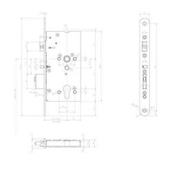 Assa Abloy effeff Mediator Schloss 609-802PZ 1