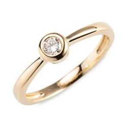 Ring 1 Brillant ca. 0,15ct get. Weiß/Lupenrein Gold 585