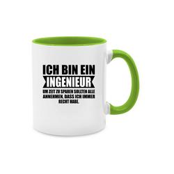 Shirtracer Tasse Ich bin Ingenieur - Tasse zweifarbig