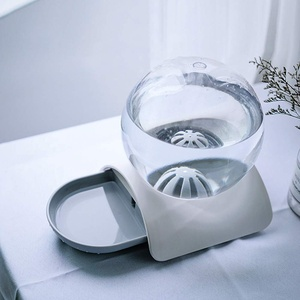 Shujin Katze Trinkbrunnen Haustier Wasserspender Wasserflasche Wasserbrunnen für Katzen und Hunde Schwerkraft 2.8 Liter