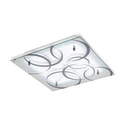 Concabella LED Glas Deckenlampe 38x 38cm 1850lm Weiß, Grau