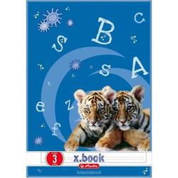 Arbeitsblätterblock A4 50 Blatt Lineatur 3 FSC Mix