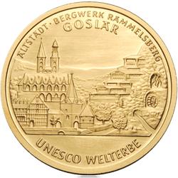 1/2 Unze Gold 100 Euro Deutschland 2008 UNESCO Welterbe - Altstadt Goslar