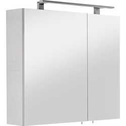 OPTIFIT Spiegelschrank Mino Breite 80 cm weiß