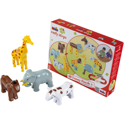 Klein Steckpuzzle Early Steps Magnetpuzzle 4 Tiere bunt Kinder Puzzle Gesellschaftsspiele