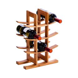 """Zeller Present Weinregal Weinregal """"Bamboo"""" für 12 Flaschen beige"""