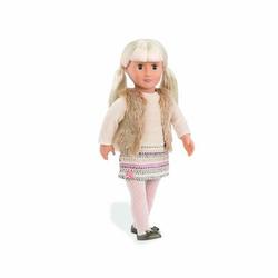 Our Generation - Puppe Aria mit Fellweste, 46 cm