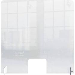 Thekenaufsteller 70x85cm Acrylglas mit Öffnung