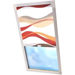 Dachfensterrollo Dekor, Liedeco, Lichtschutz, in Führungsschienen weiß Dachfensterrollos Rollos Jalousien Rollo