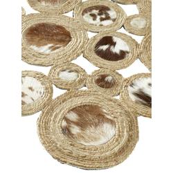 Teppich echtes Kuhfell braun ca. 90/160 cm