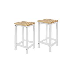 SoBuy Küchenstuhl FST29-WNx2 2er Set Stuhl Holzstuhl Essstuhl Hocker zum Küchenwagen