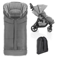 Zamboo Fußsack Grau, Winter - Fußsack Baby für joie Buggy & Sportwagen