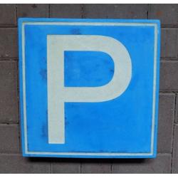 Logo Betonstein Pflasterplatte mit Parkplatz Logo Zeichen als Pflasterstein Platte 40x40cm