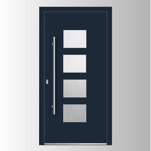 Haustür Welthaus WH75 Standard Aluminium mit Kunststoff LA535 London Tür 1000x2000mm DIN Links Farbe aussen anthrazit Innen weiß außengriff BGR1400 innendrucker M45 Zylinder 5 Schlüßel