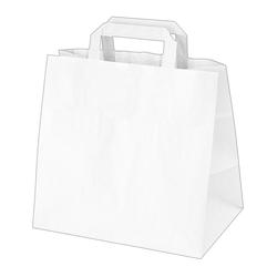 GASTRO Papiertragetaschen 25 x 26 x 17 cm mit EAN-Code weiß, 250 Stk.