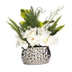 ABELLA Flora künstliches Blumenarrangement Designtopf Höhe ca. 45cm