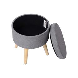 Woltu Sitzhocker, Sitzhocker Fußhocker mit Stauraum SH08 grau