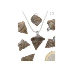 Adelia´s Kettenanhänger Schmuck Stein Anhänger - Schnecke - 925 Silber
