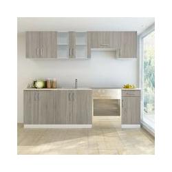 Küchenzeile 7-tlg. Eichen-Look VD08733 - Hommoo