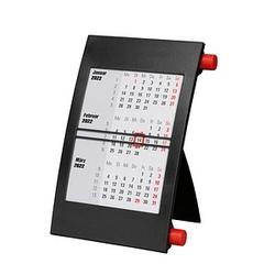Tischkalender Drehkalender 2021/2022 schwarz/rot