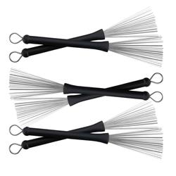 XDrum XJB2 Drumstickbesen Wire Brushes SET 3x