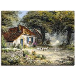 Artland Wandbild Märchenhaftes Ferienhaus, Garten (1 Stück) 120 cm x 90 cm