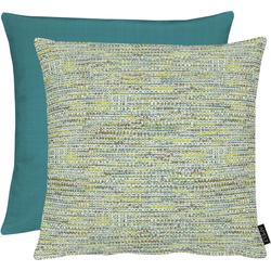 APELT Dekokissen Tweed blau 45 cm x 45 cm x 5 cm