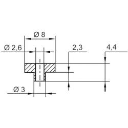 TRU Components TC-V5817-203 Isolierscheibe Außen-Durchmesser: 8 mm, 3mm Innen-Durchmesser: 2.6mm