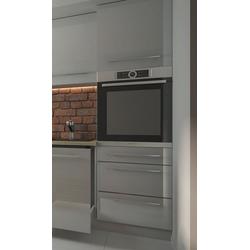 Feldmann-Wohnen Backofenumbauschrank ESSEN (Umbauschrank für Backofen, Küchenschrank) ES-D14/RU/3M - Korpus- und Frontfarbe wählbar grau