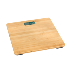 WENKO Waage Bambusa aus Bambus, Hochwertige Personenwaage zur Gewichtsbestimmung, Maße (L x B): 30 x 2,7 x 30 cm