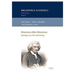 Rousseau über Rousseau. Anke Redecker  - Buch