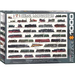 empireposter Puzzle Geschichte der Dampflokomotive - 1000 Teile Puzzle im Format 68x48 cm, 1000 Puzzleteile