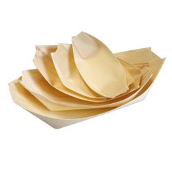 NATURESTAR Bio Holzschiffchen, Geschmacksneutrales Holzboot aus Pinienholz, 1 Packung = 50 Stück, 10,5 x 5 cm, natur